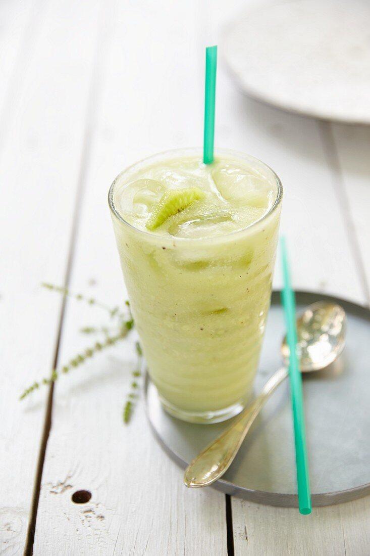 An avocado and kiwi smoothie