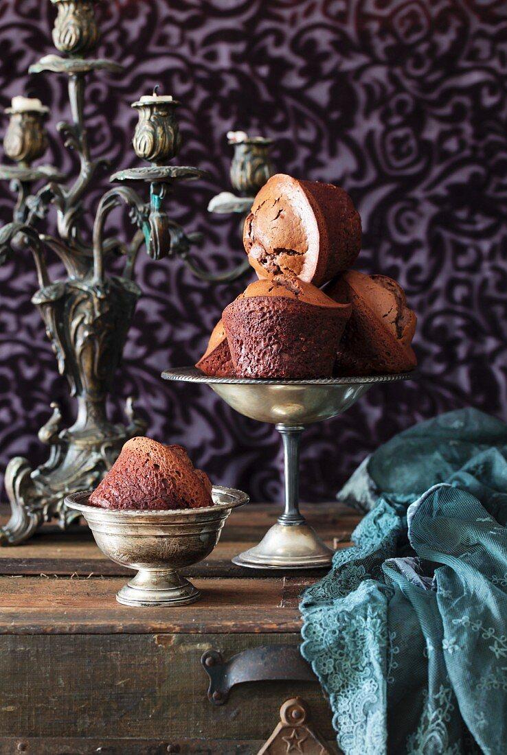 Flourless honey-orange chocolate muffins