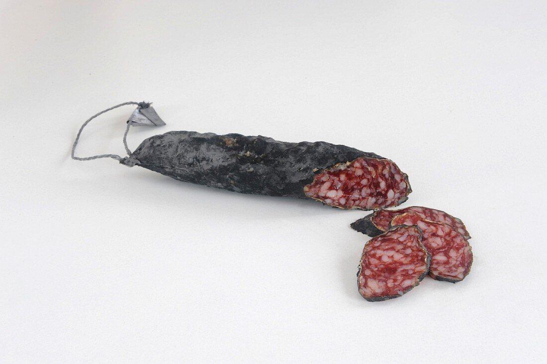 Salami Iberico with ash