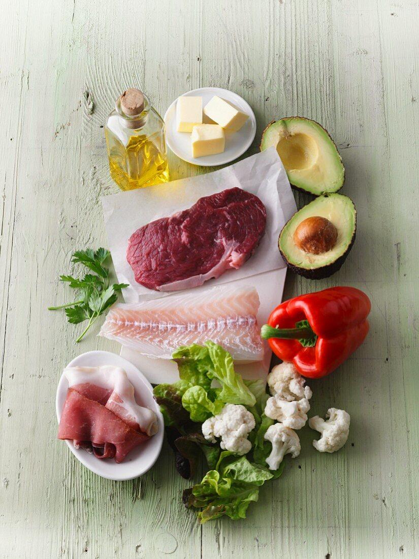 Low-carb, high-fat foodstuffs