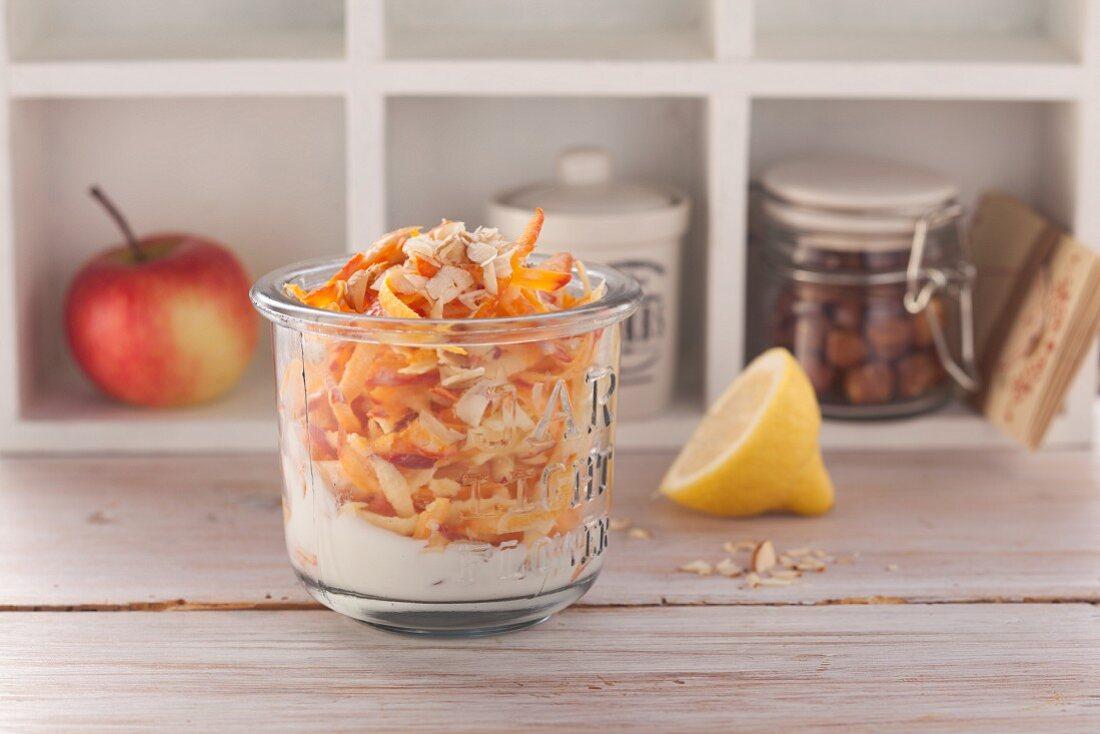 Hokkaido salad with apples and hazelnuts (post fasting)
