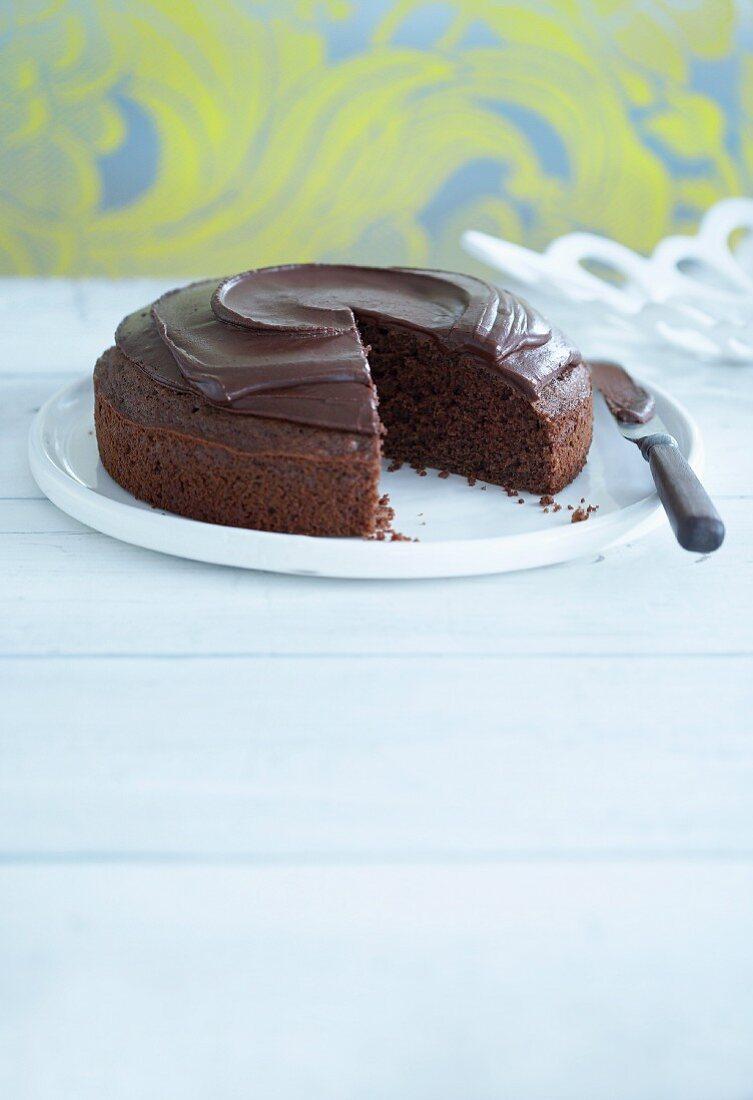 Low calorie chocolate cake