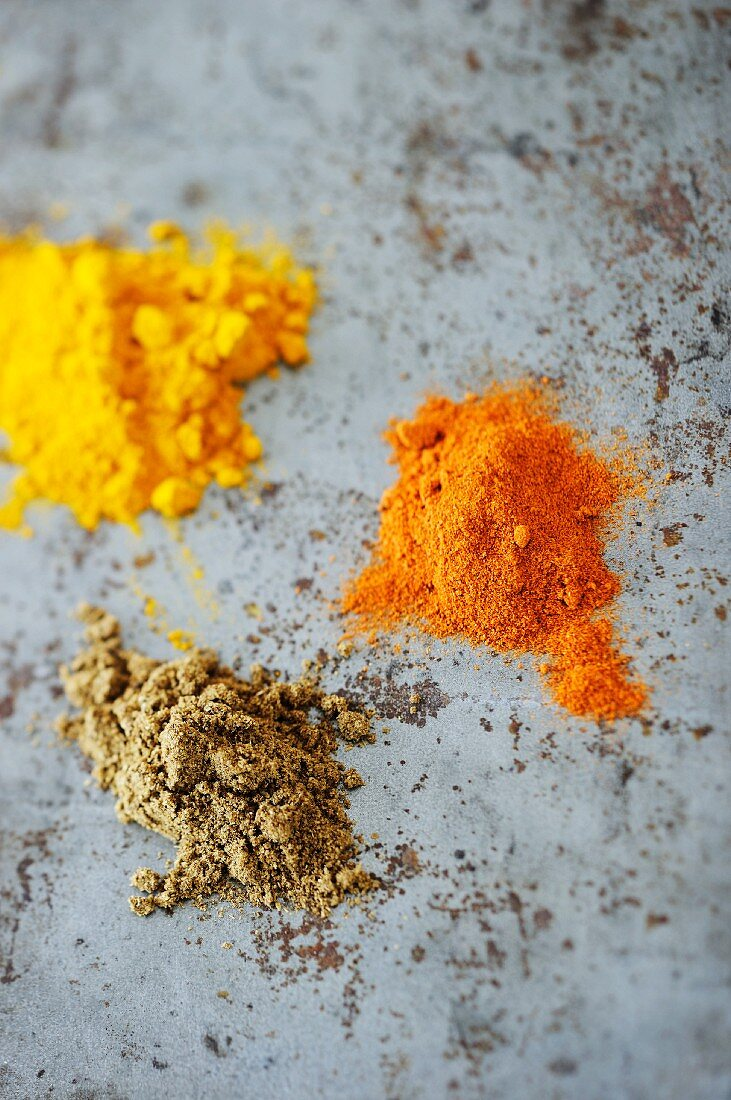 Three different spices