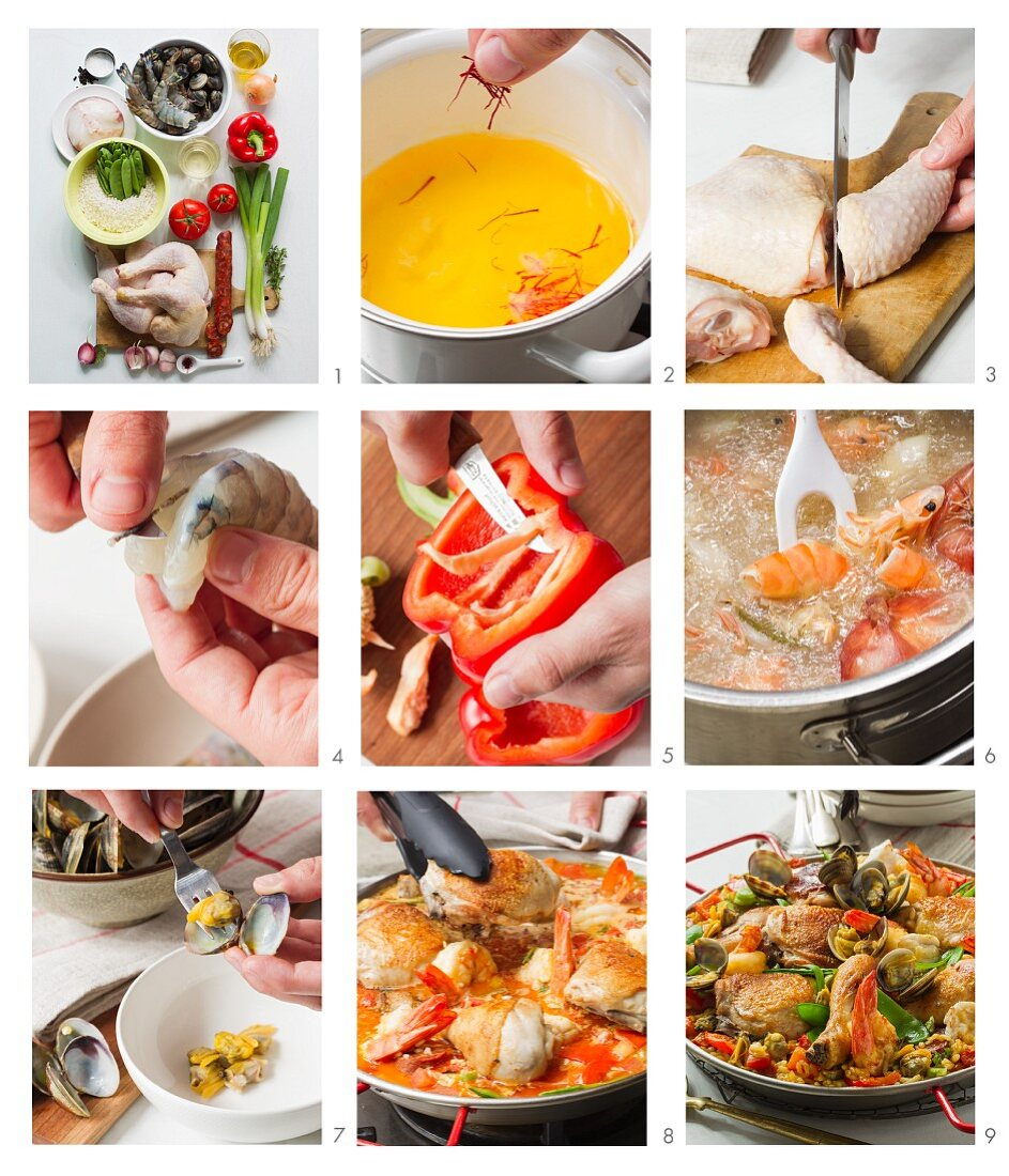 Paella being prepared
