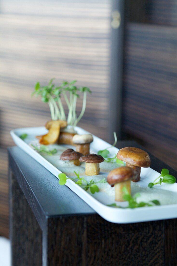 Porcini mushroom gnocchi