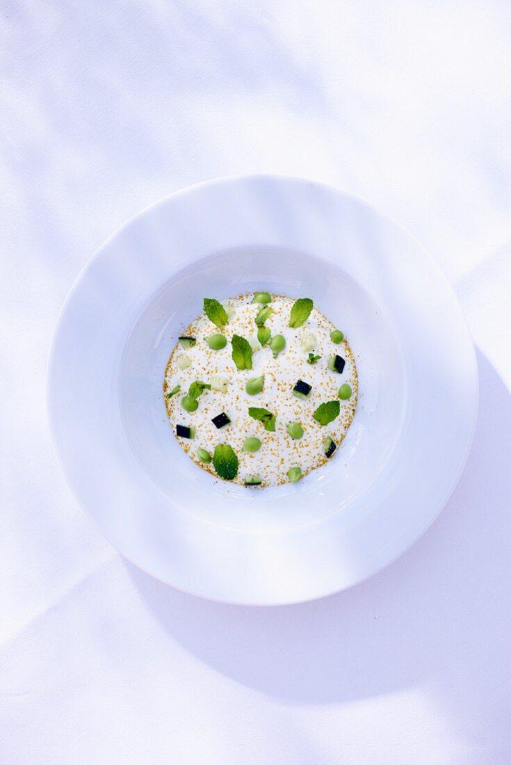 Raita with cream cheese and cucumber