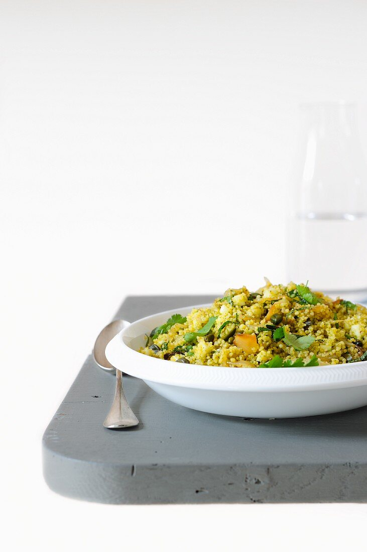 Wheat semolina with pistachio pesto