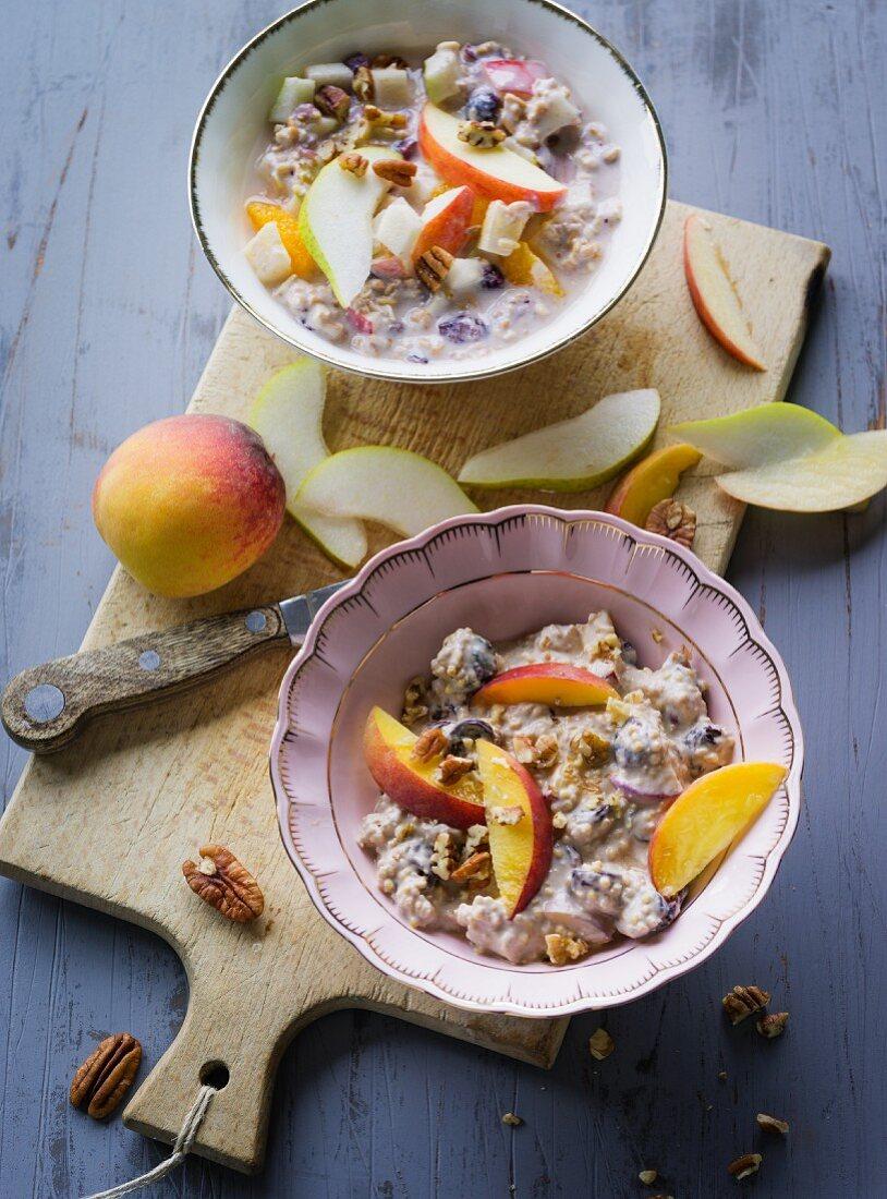ADHD food: fresh grain muesli and millet porridge