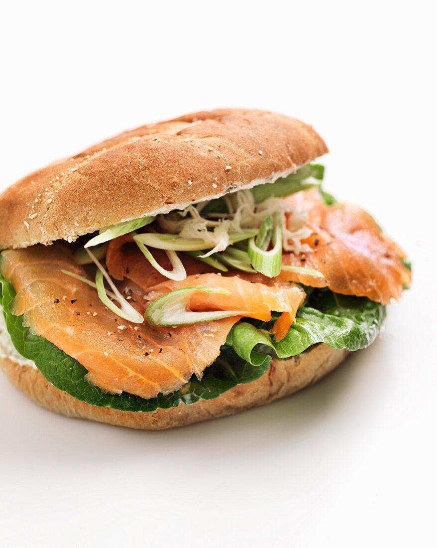 A salmon roll