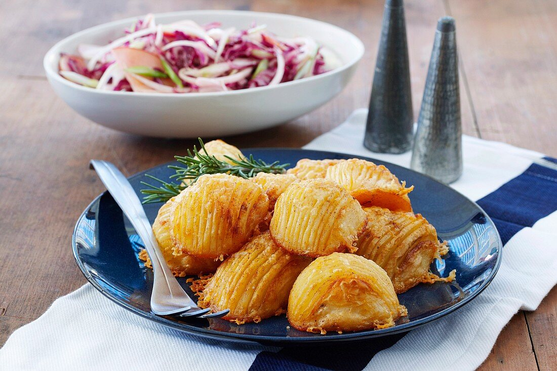 Cheesy paprika hasselback potatoes