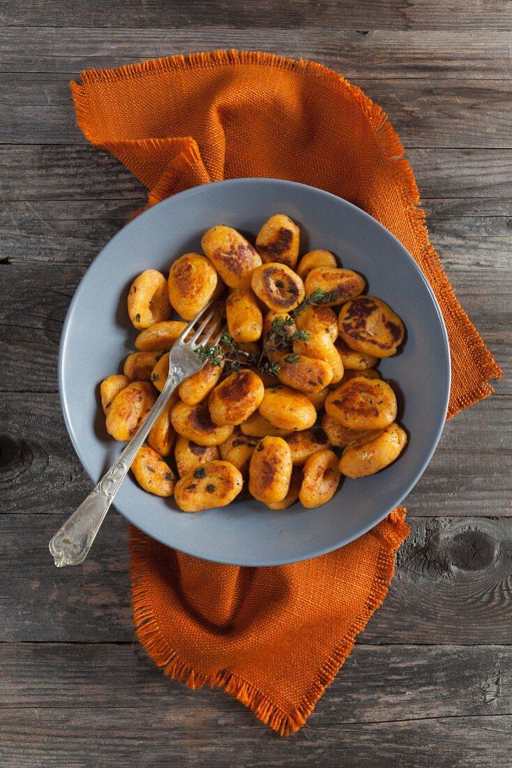 Gnocchi di zucca (pumpkin gnocchi, Italy)