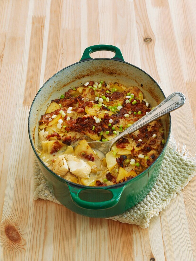 Oven-baked fish stew