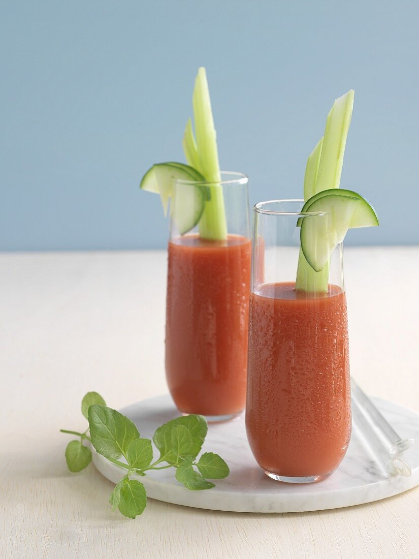 Bloody Mary (cocktail with tomato juice and vodka)