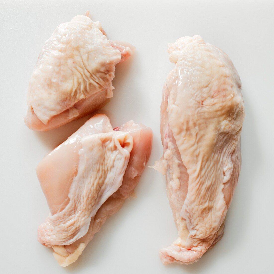 Three chicken breast pieces