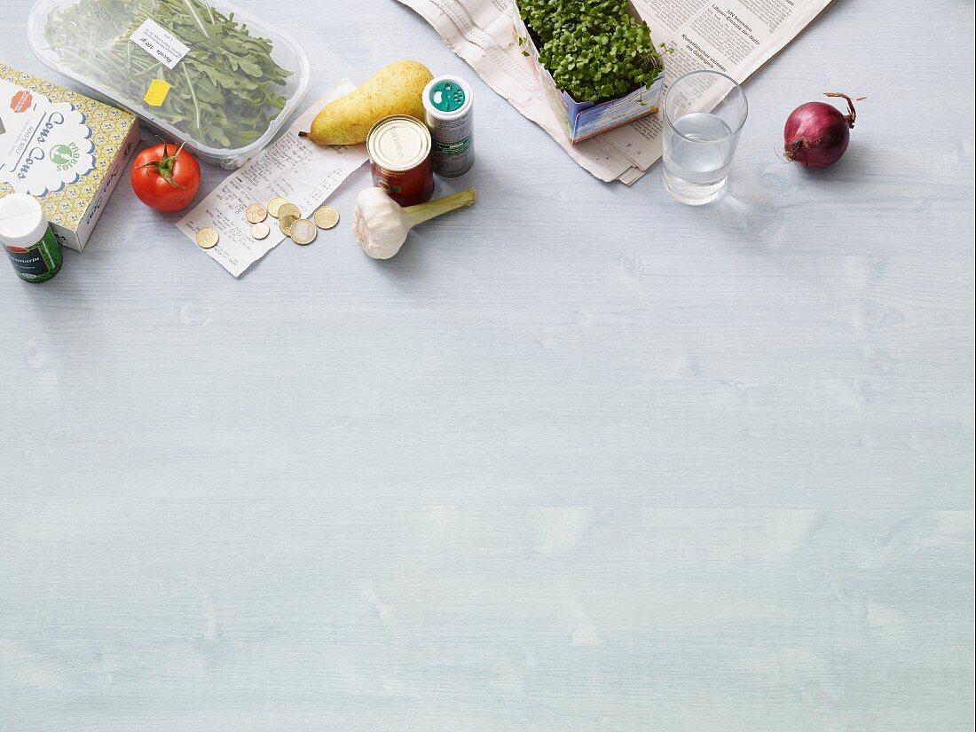 Ingredients for fast vegan cuisine