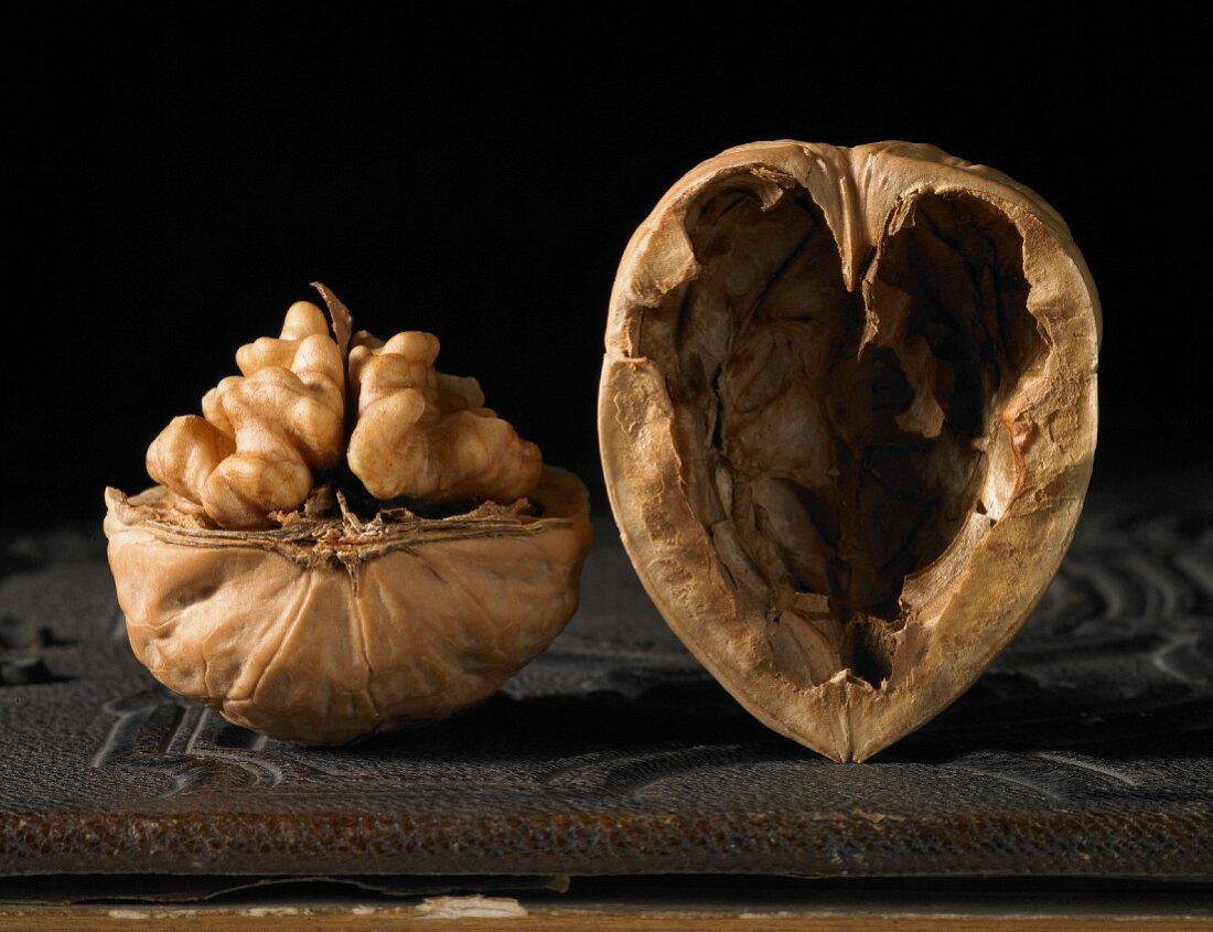 A walnut with a heart-shaped shell
