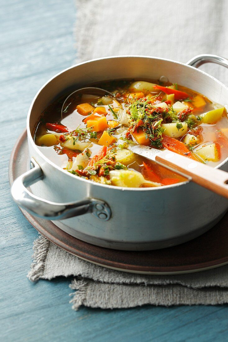 Winter ratatouille with root vegetables