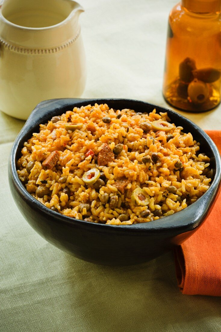 Puerto Rican olive rice