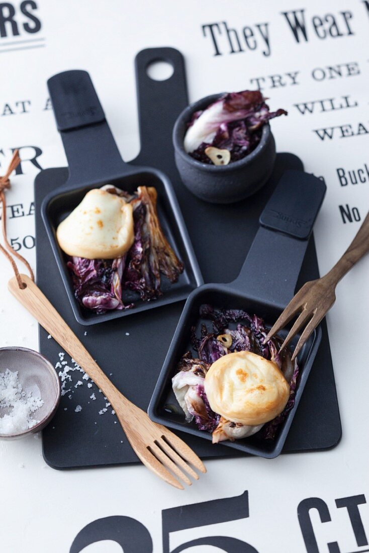 Raclette radicchio with scamorza