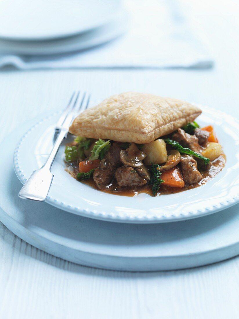 Beef Ale Pie (Rindfleischpastete, Grossbritannien)