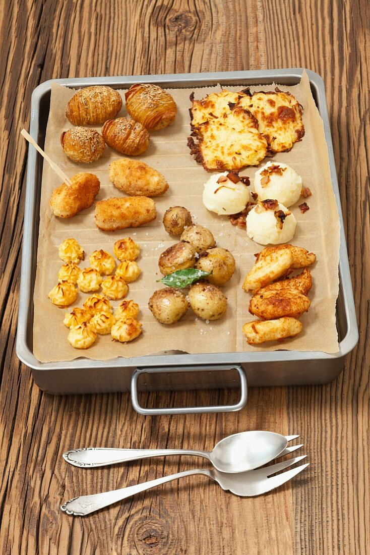 Various types of potatoes