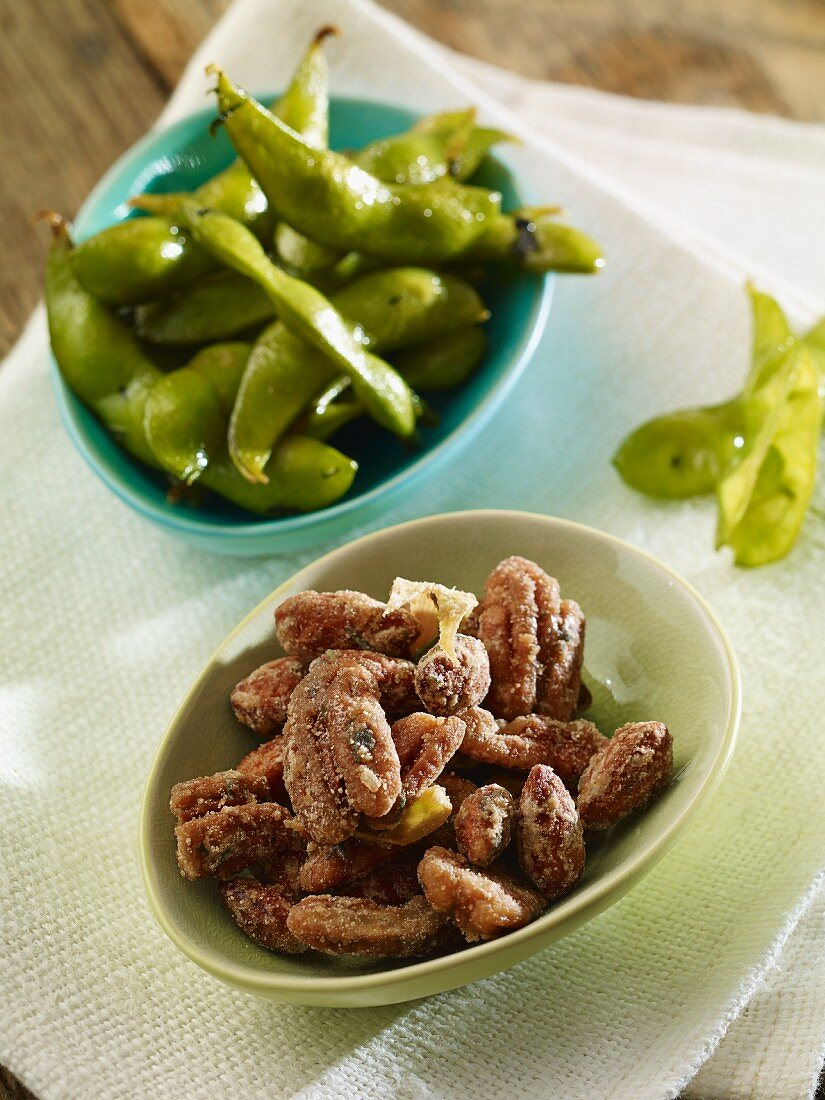 Spicy crunchy nuts and Kenyan beans