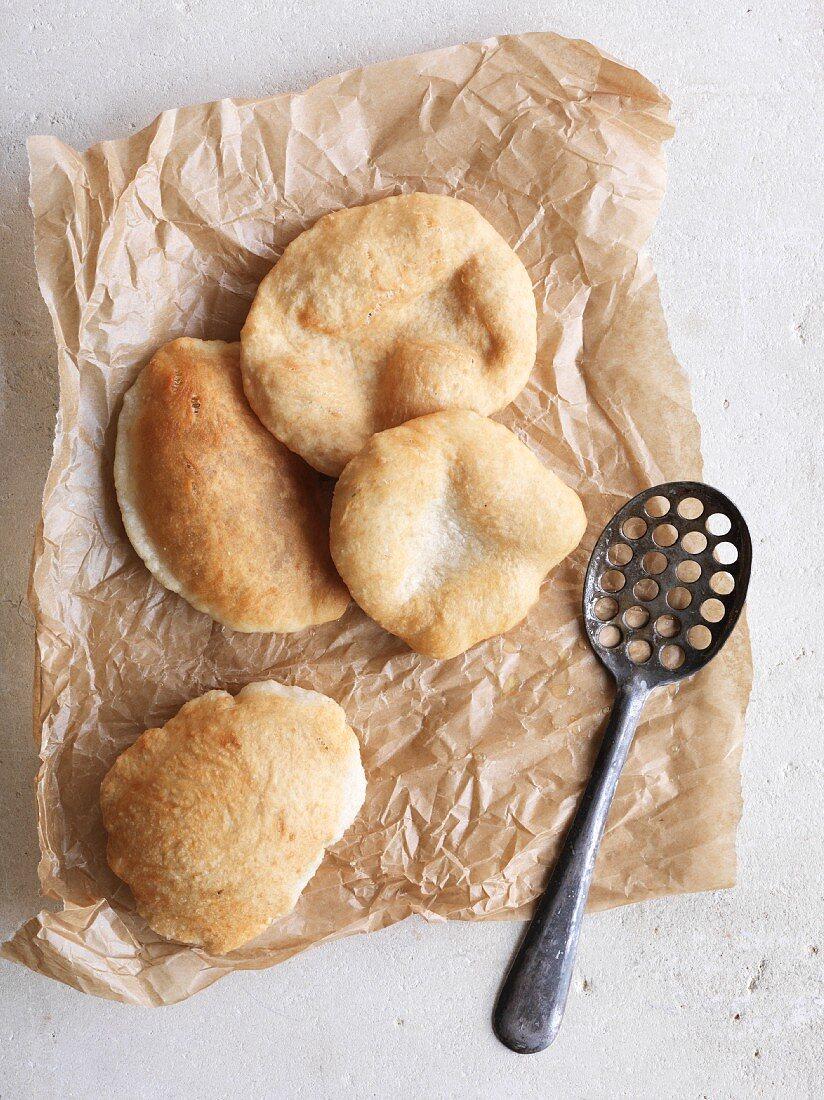 Easy bhaturas (deep-fried bread, India)