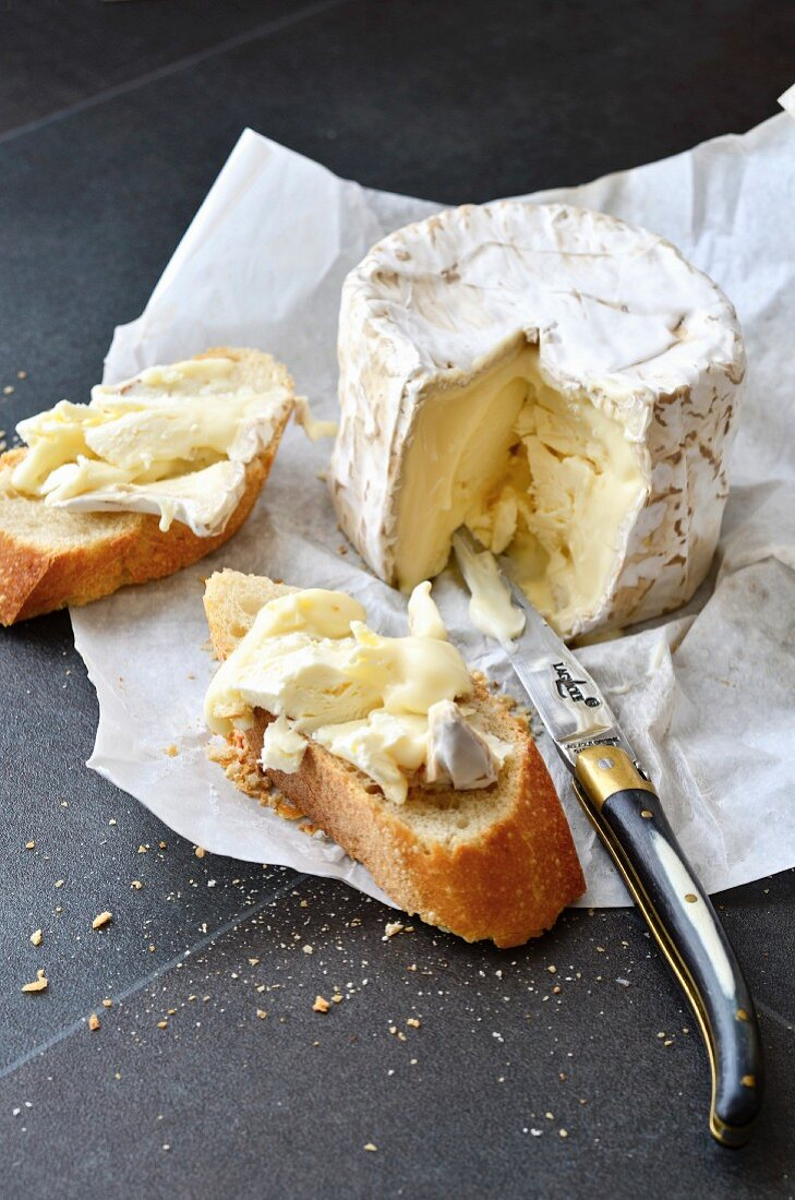Baguette with Chaource cheese