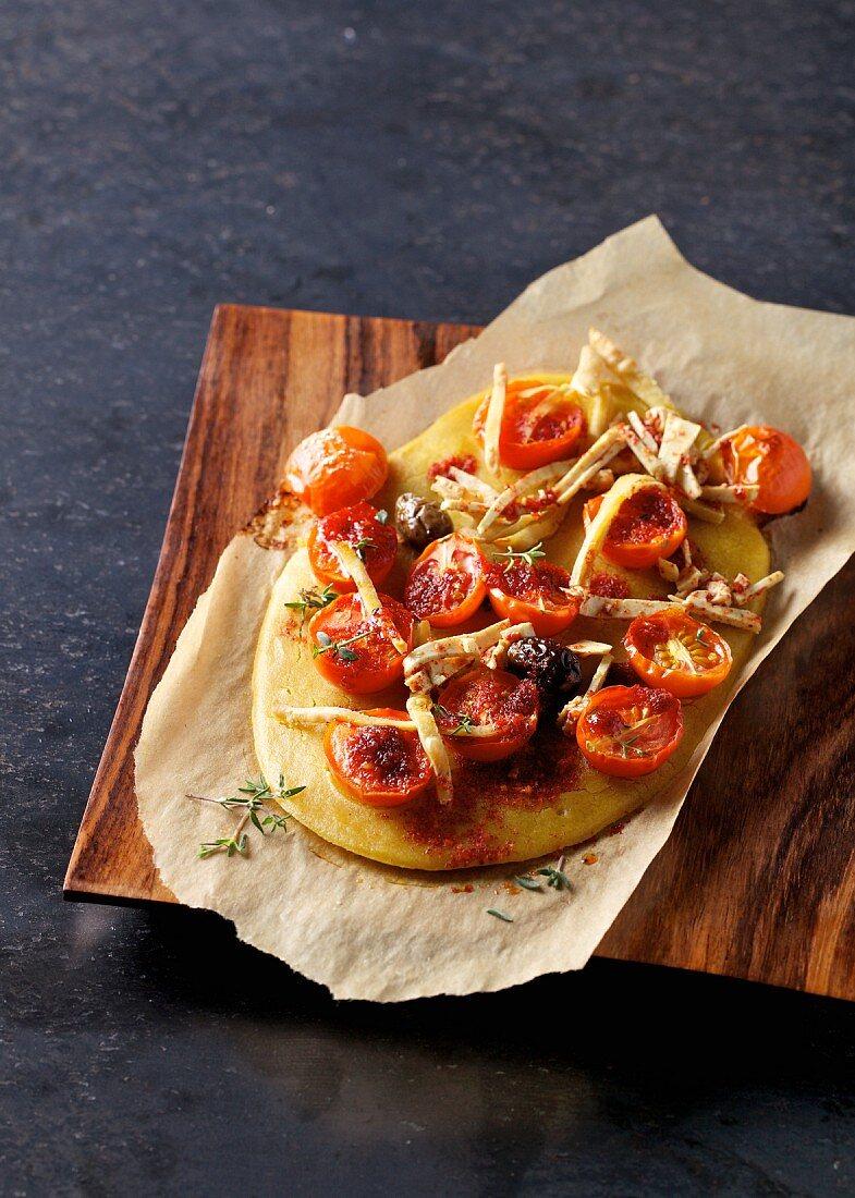 An ayurvedic pizza