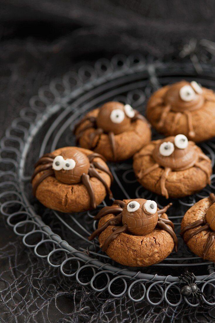 Spider biscuits for Halloween