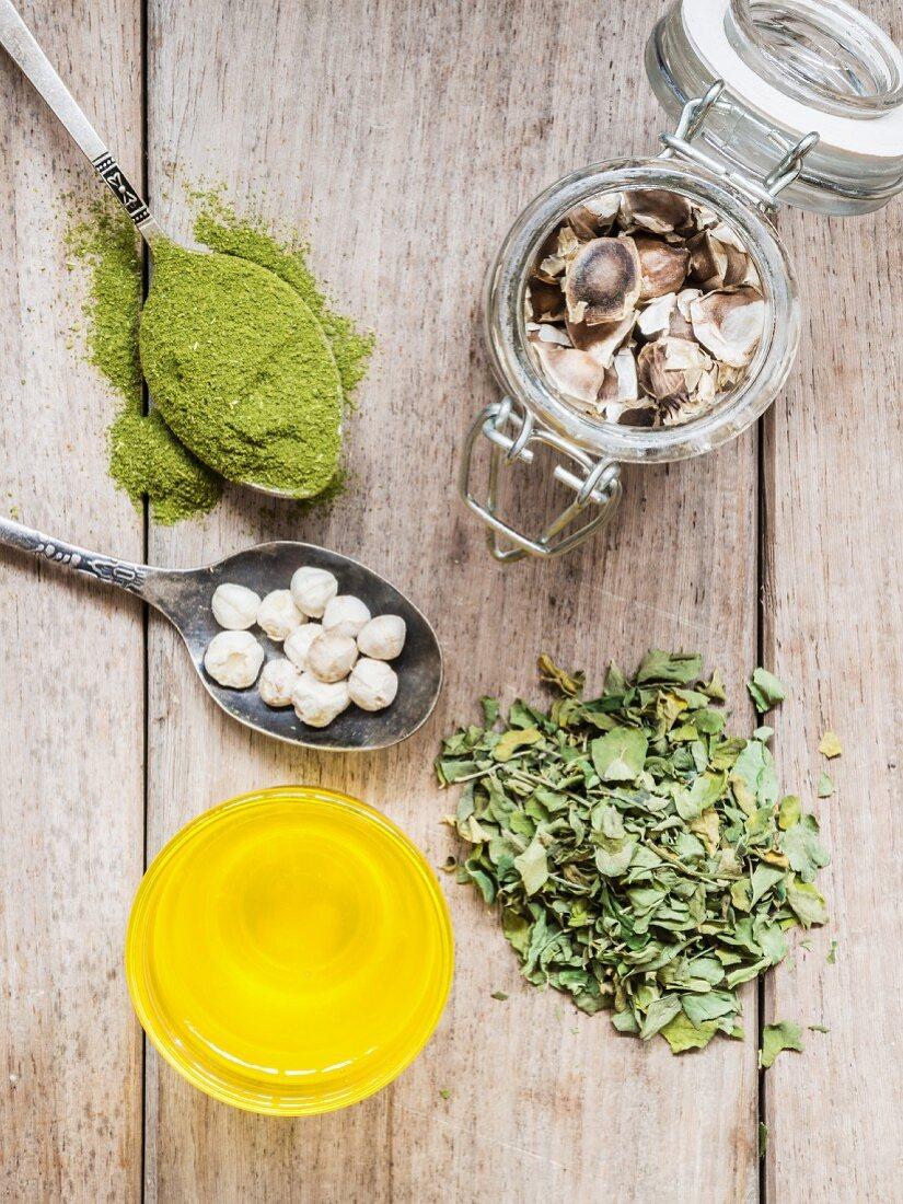 Various Moringa products