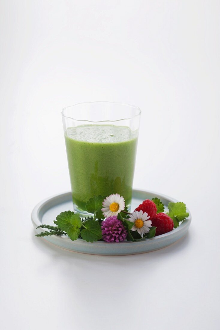 A green herb smoothie