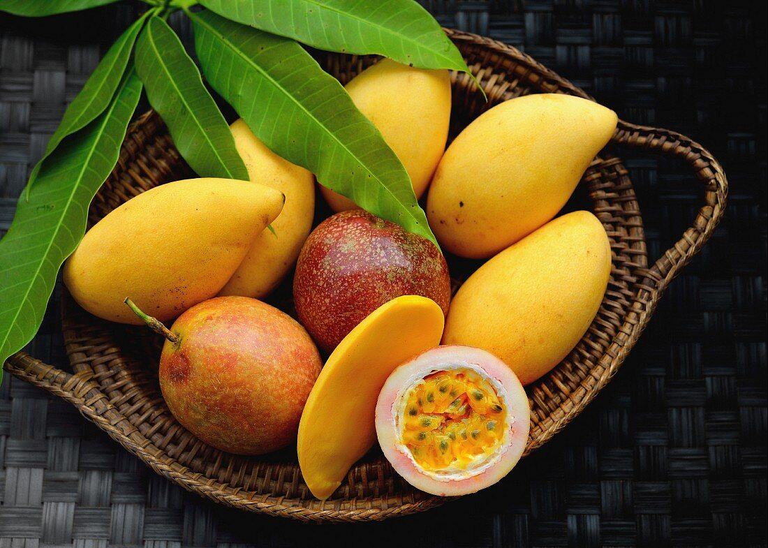 Mangos and passionfruits