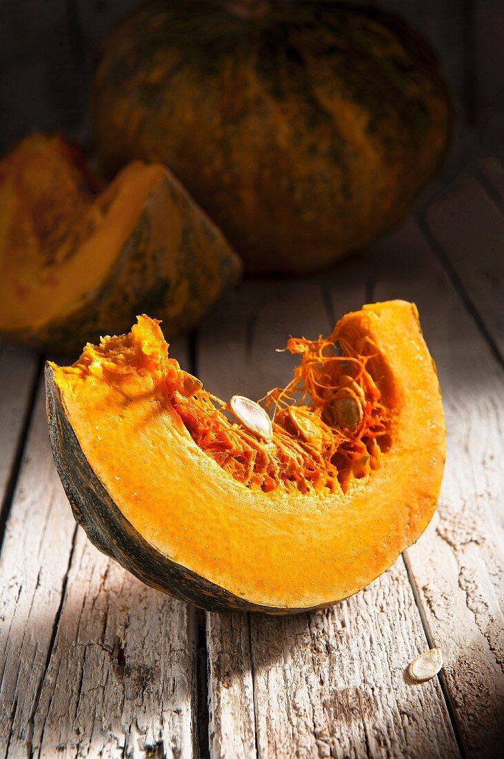 A pumpkin wedge