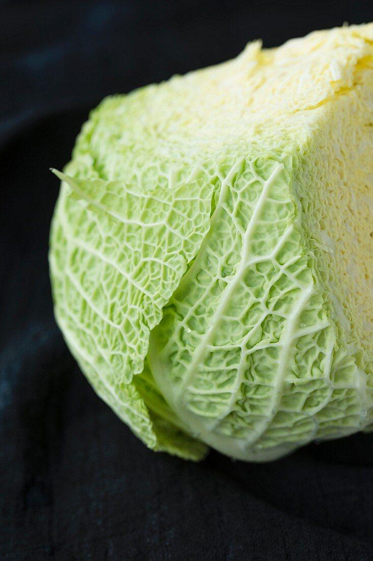 Savoy cabbage, sliced