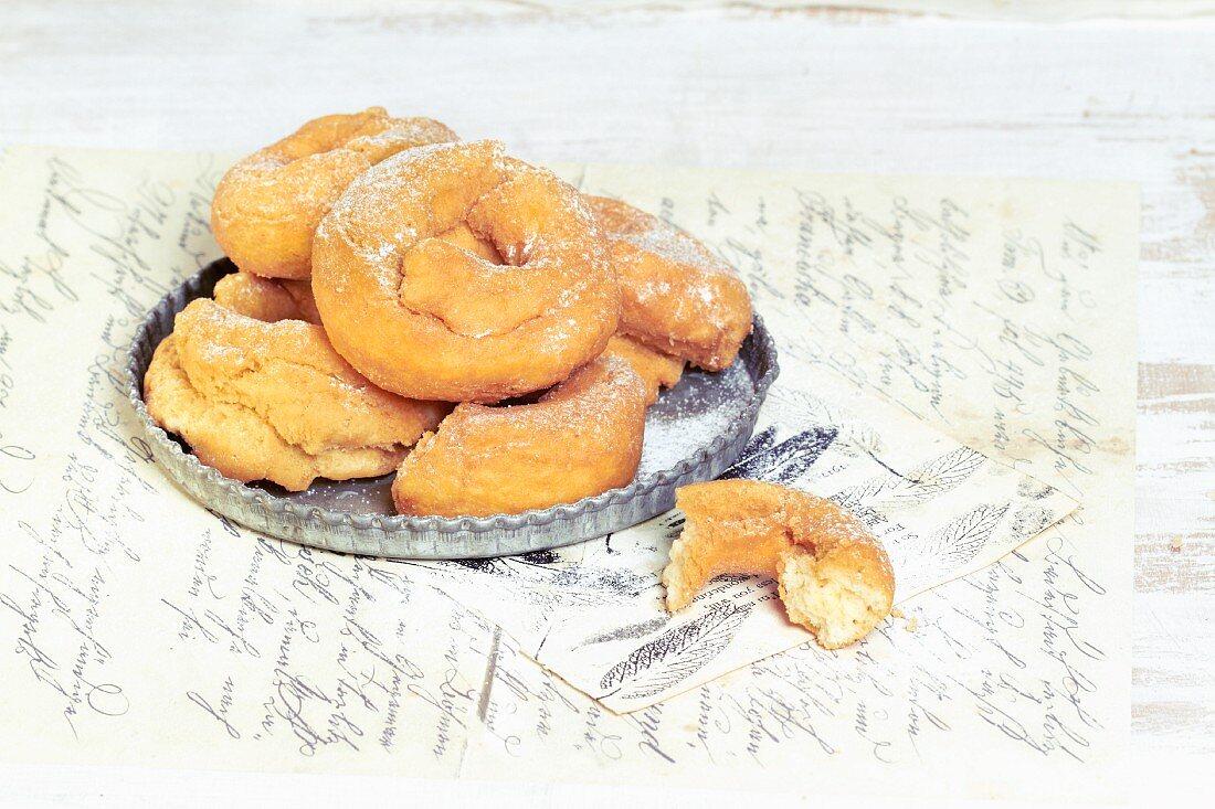 Rosquilles (deep-fried pastries, Spain)