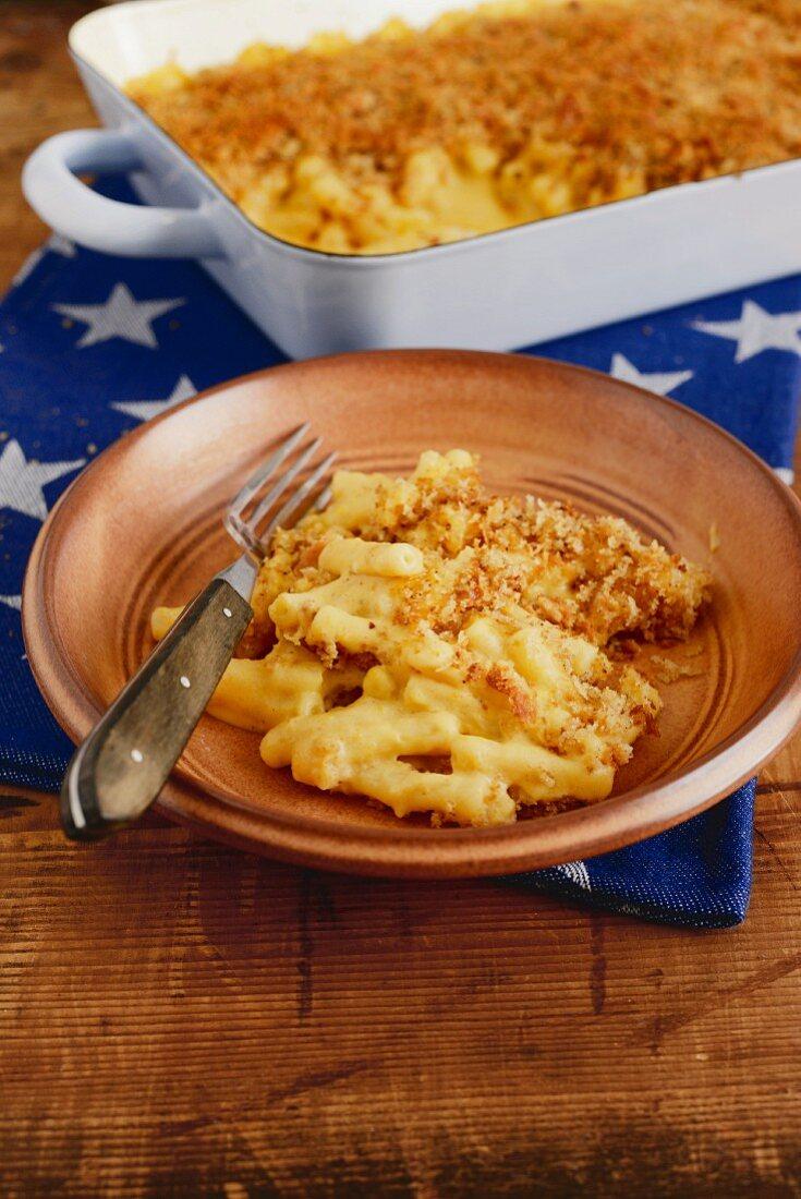 Mac 'n' cheese – American pumpkin and maccaroini back with lots of cheese