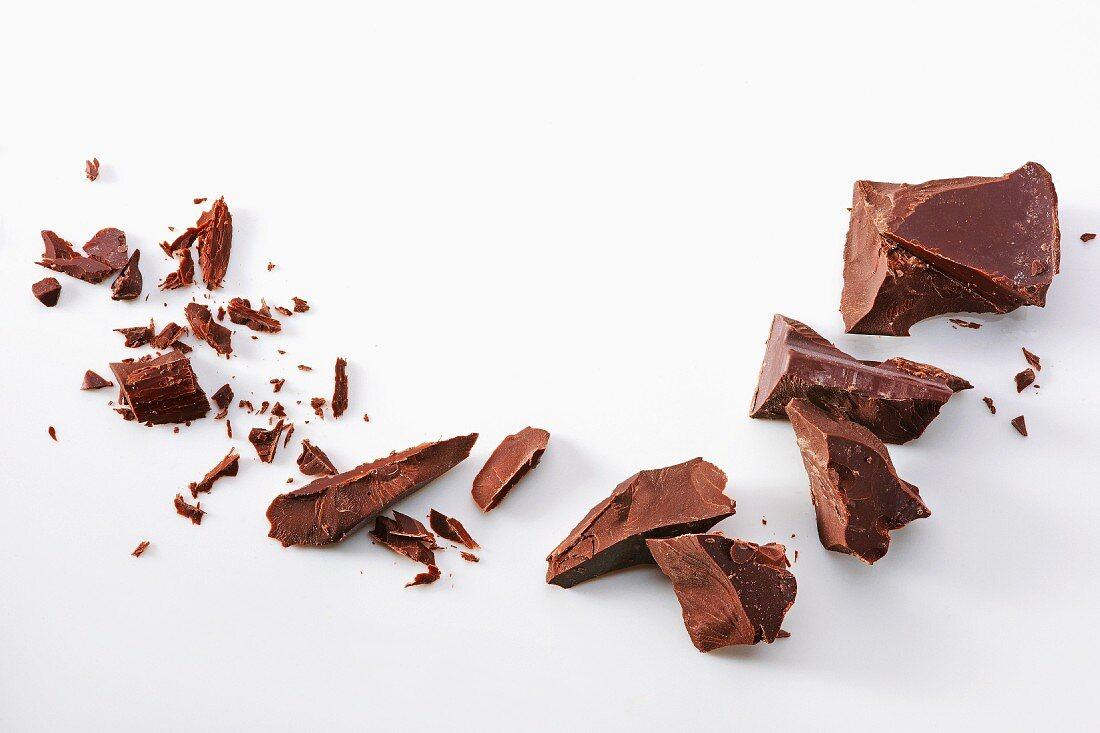 Schokoladenstücke und -späne