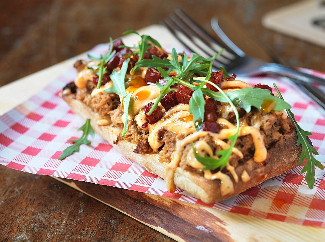 Ciabatta with pulled pork