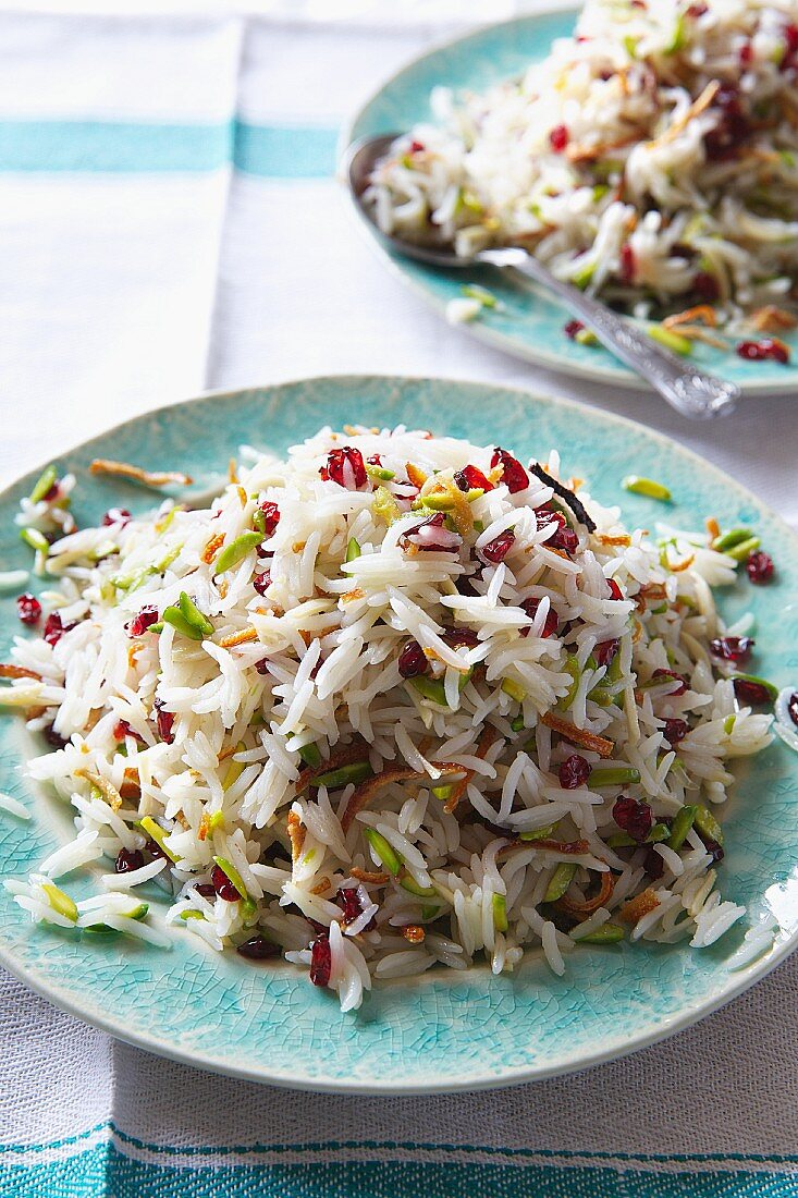 Persian rice with pistachios and barberries