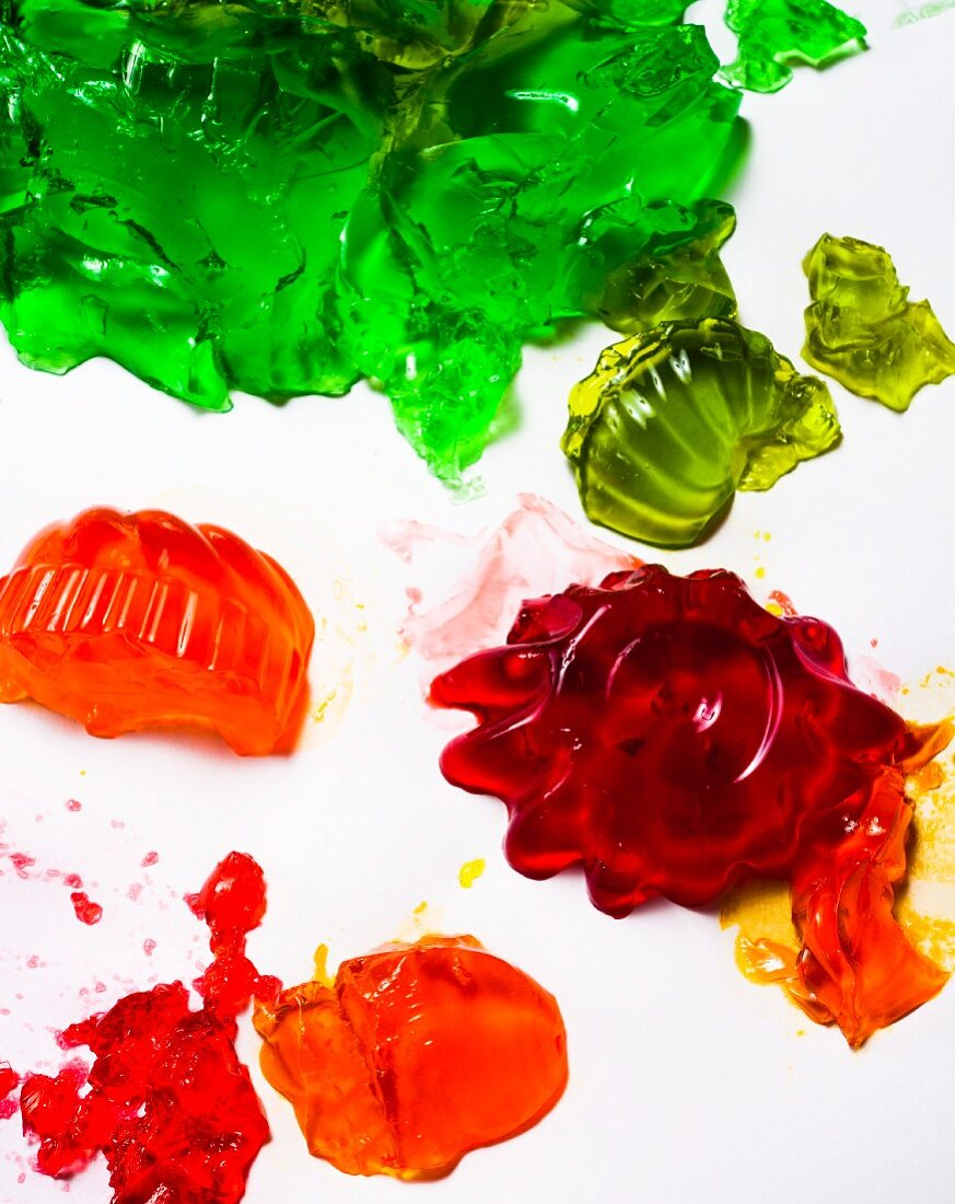 Various colourful jellies