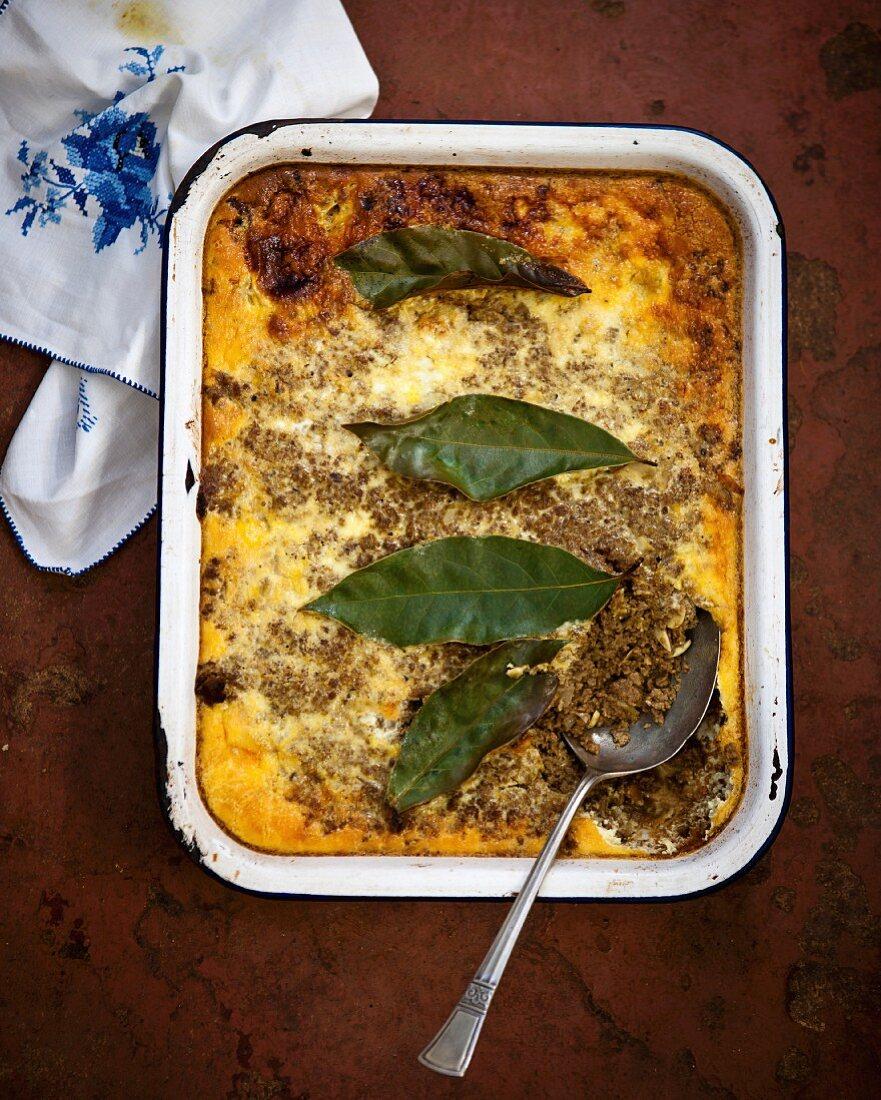 Bobotie (Mince dish, South Africa)