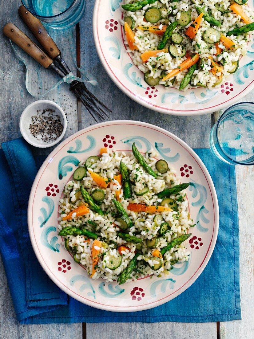 Risotto primavera (Vegetable risotto, Italy)