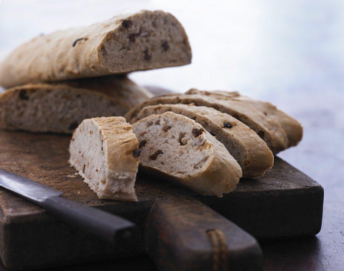 Nut and raisin bread