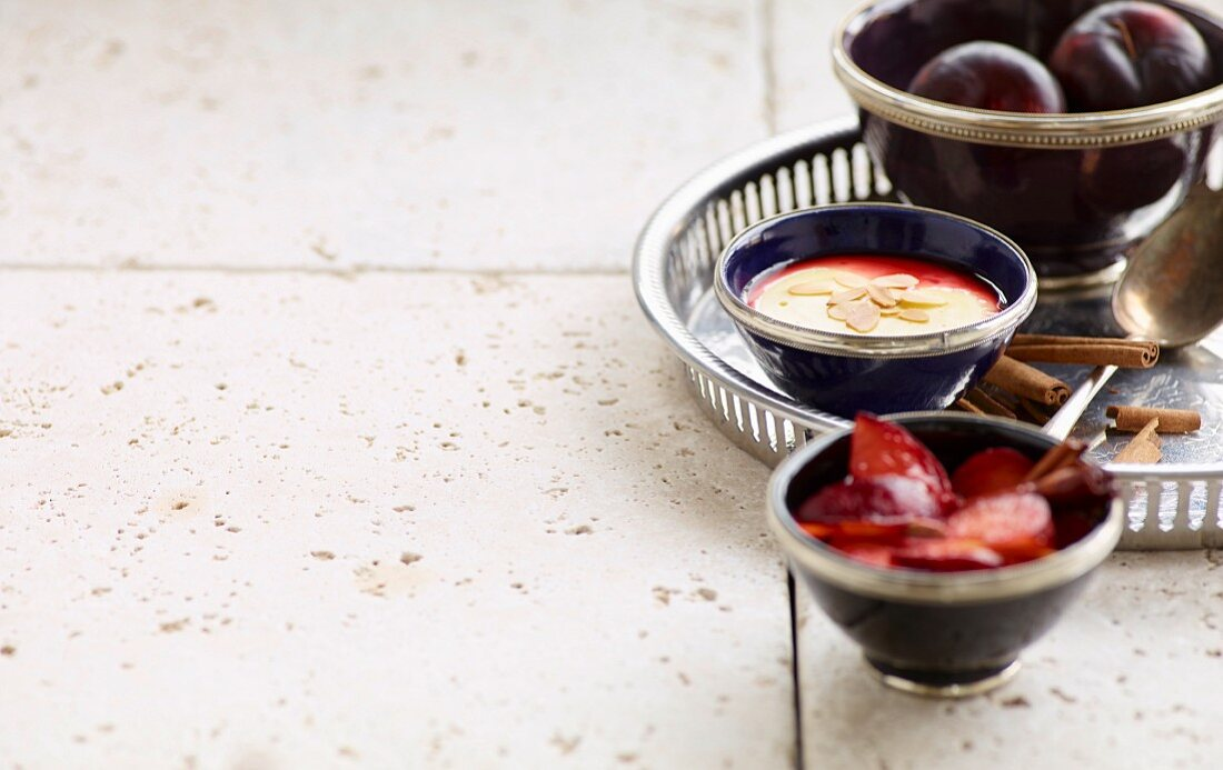 Almond milk pudding