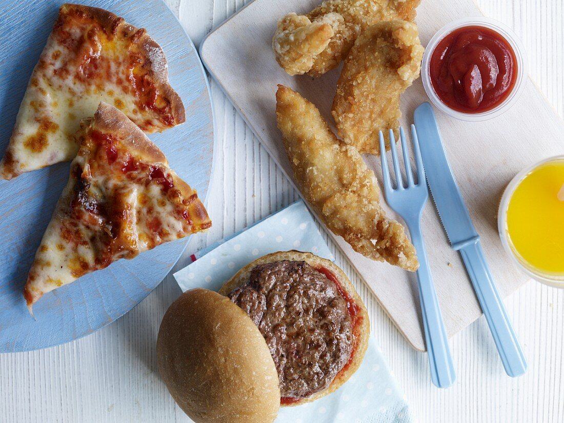 Fast food for a children's birthday party