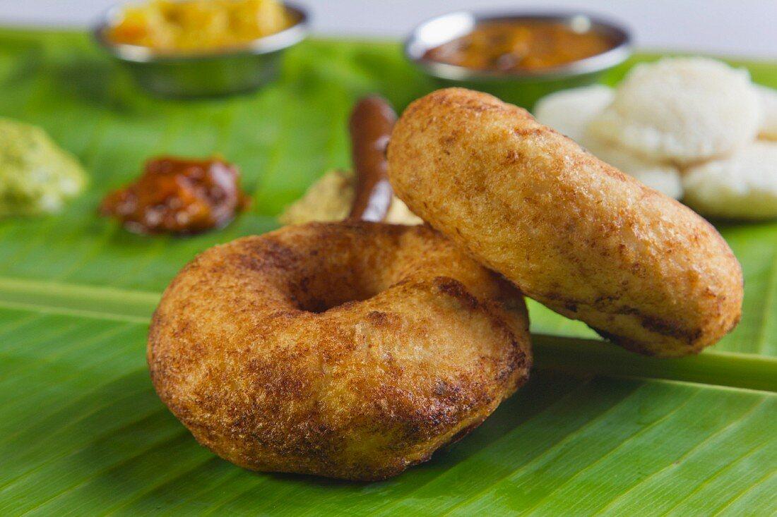 Vada (deep-fried lentil rings, India)