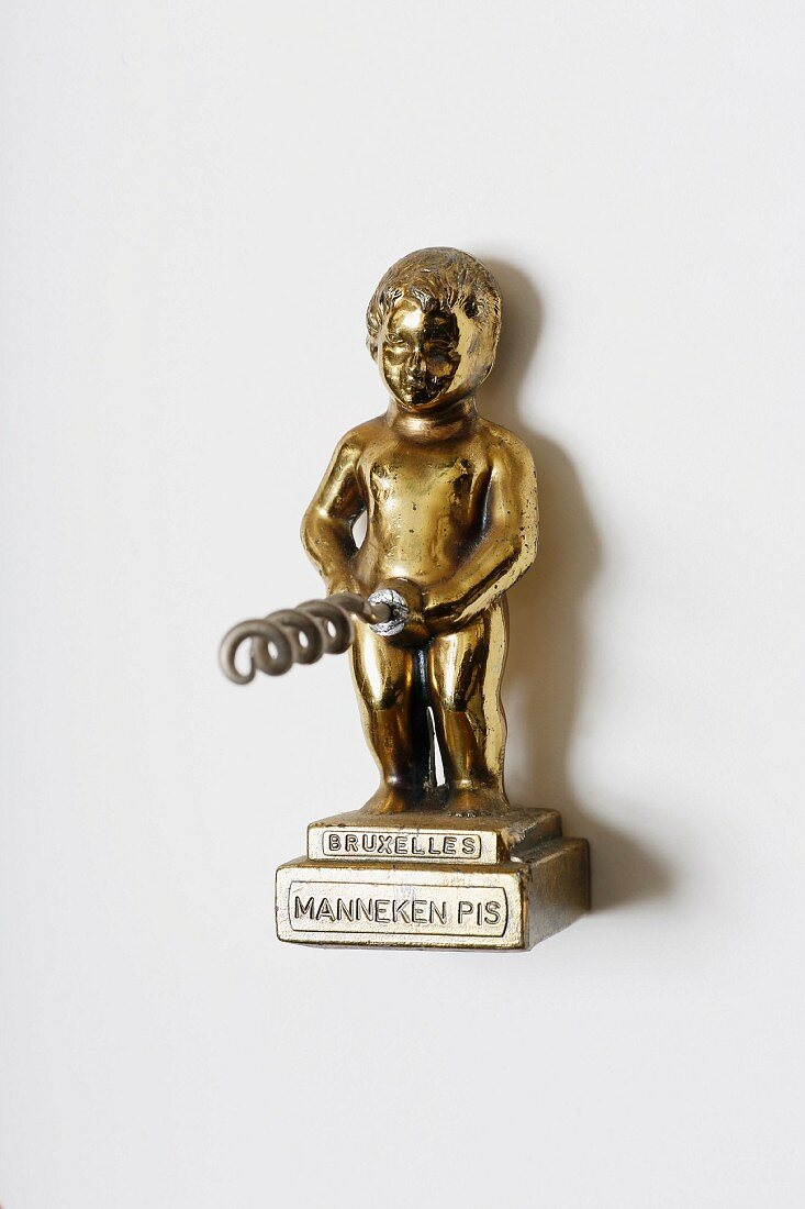 A brass Manneken Pis corkscrew, 1960s (Von Kunow Collection)