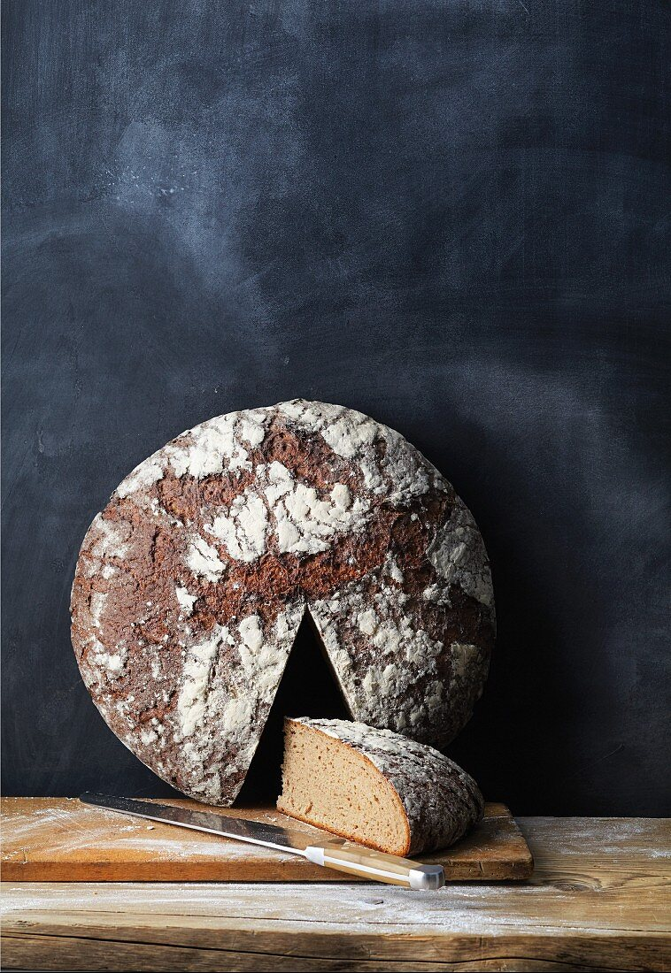 A loaf of Franken bread (sourdough bread with spices, Franken, Germany)