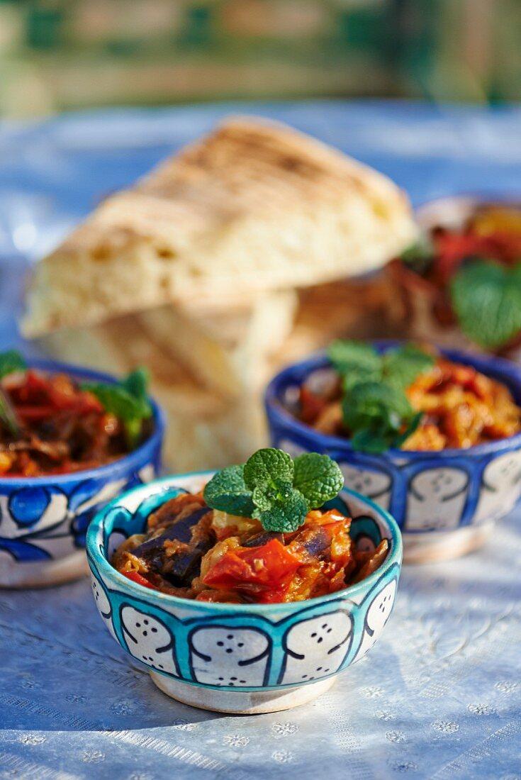 Zaalouk (aubergine and tomato salad, Morocco)